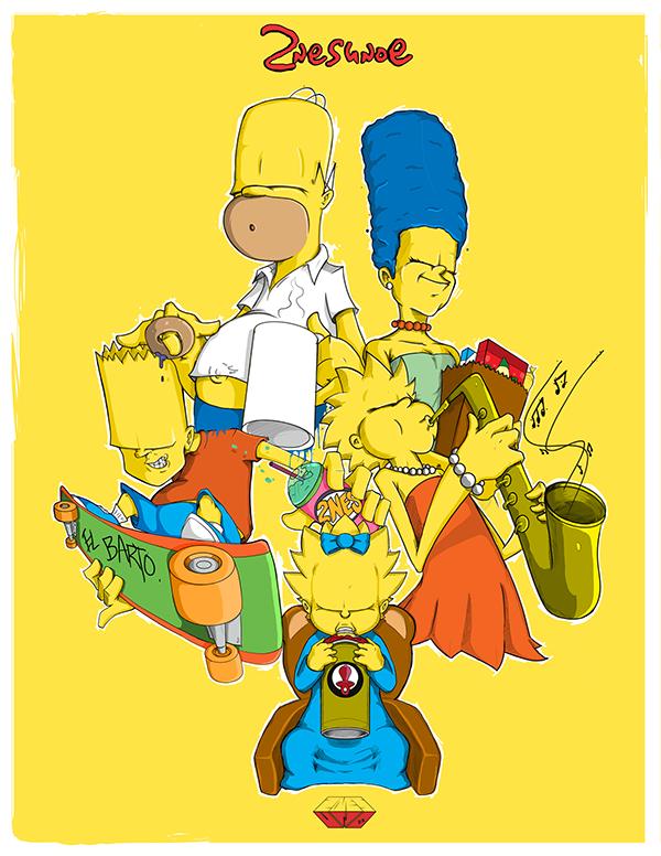Ilustraciones Los Simpsons