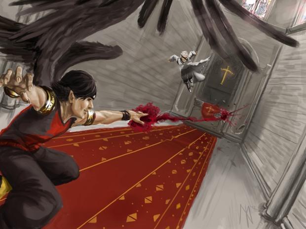 Ilustraciones digitale Brakken pelea