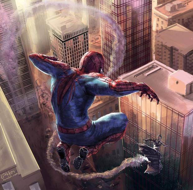 Ilustraciones digitale Brakken spider man