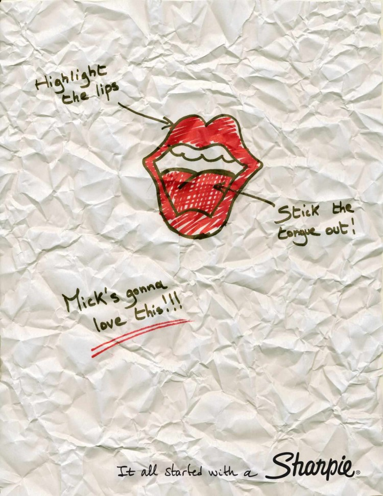 Logo Rolling Stones Sharpie