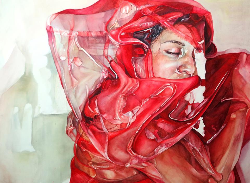 Paulina Jaimes pintura Aguas Inertes