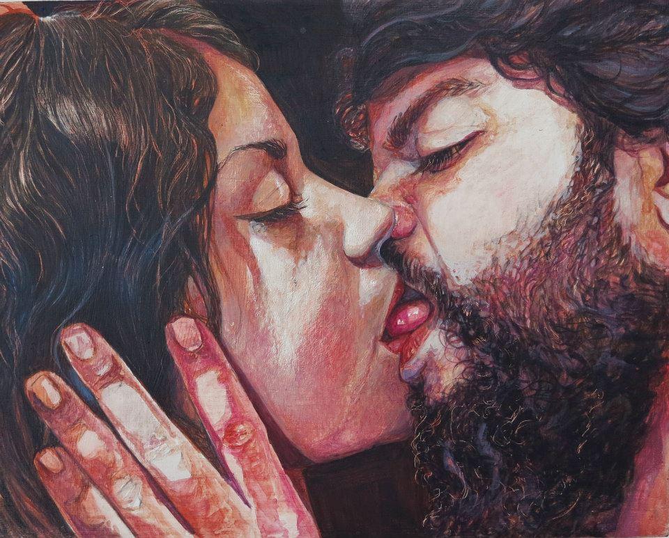Paulina Jaimes pintura beso pasion