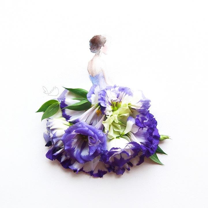 arte petalos de flores 5