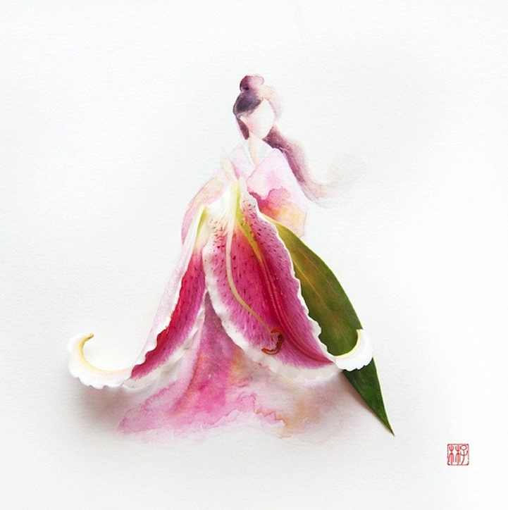 arte petalos de flores 9