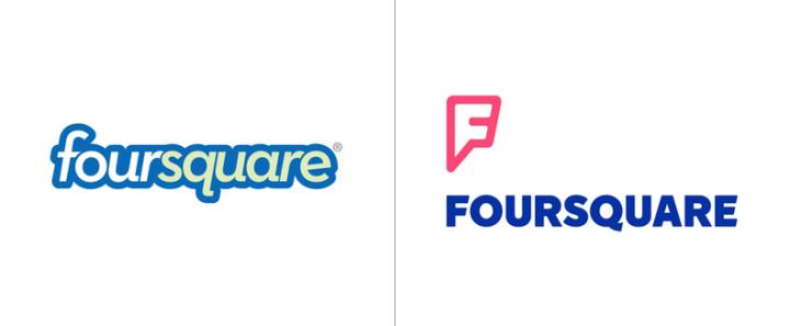 comparativa logos foursquare