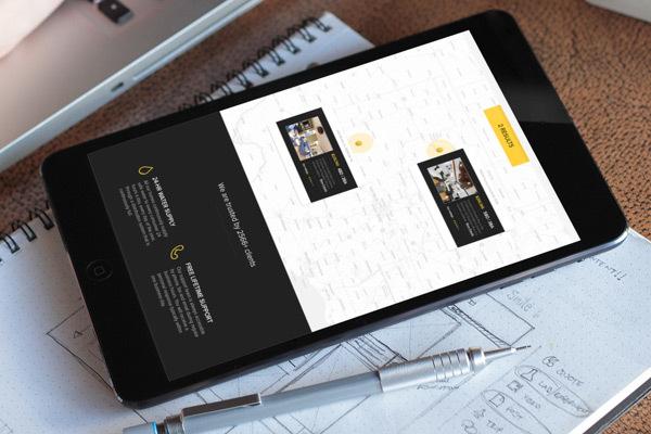 diseño bienes raices ipad