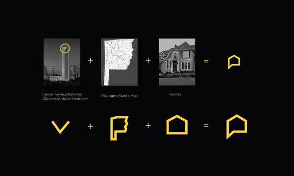 diseño bienes raices logo proceso