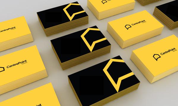 diseño bienes raices tarjetas de presentacion