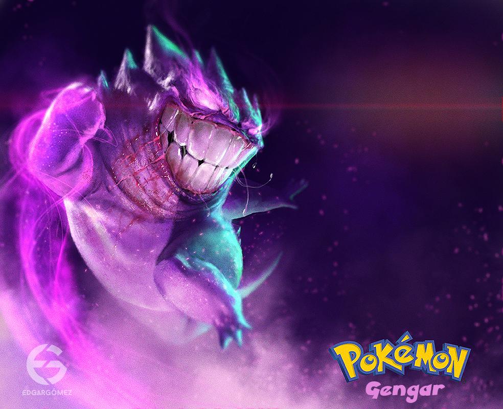 diseño digital edgar gomez pokemon gengar