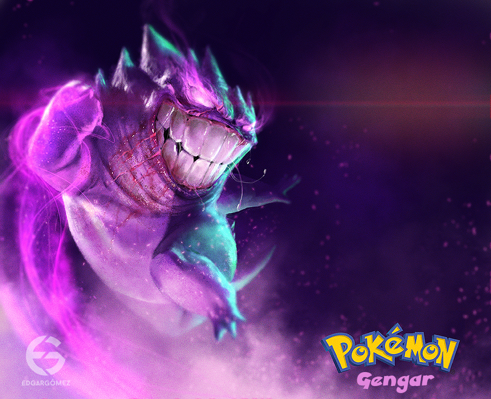 diseño digital edgar gomez pokemon gengar