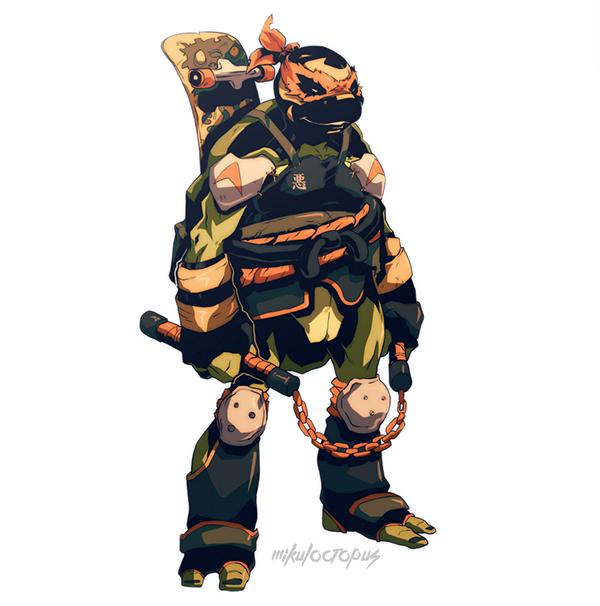 ilustraciones Michael Anderson dark mikey tortugas ninja