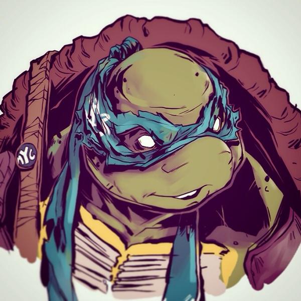 ilustraciones Michael Anderson leonardo tortugas ninja