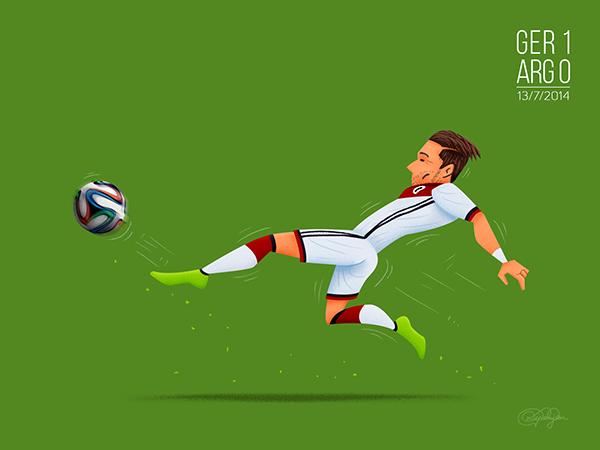 Gol de Mario Gotza, Alemania vs Argentina
