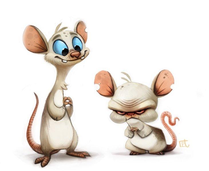 ilustraciones personajes piper thia 2