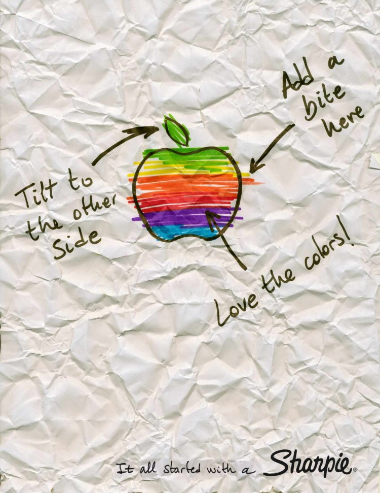 logo Apple Sharpie