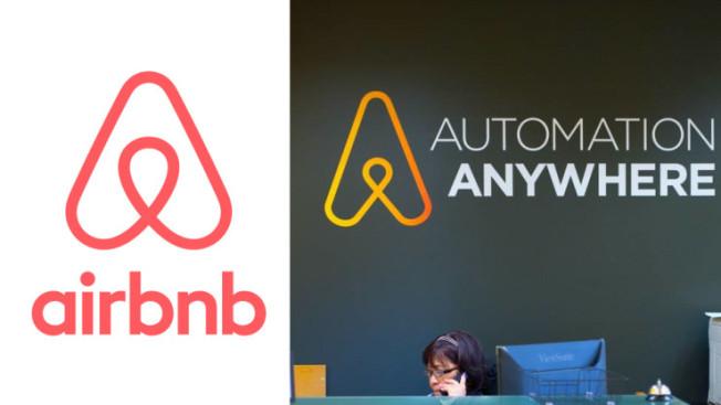 logo airbnb plagio
