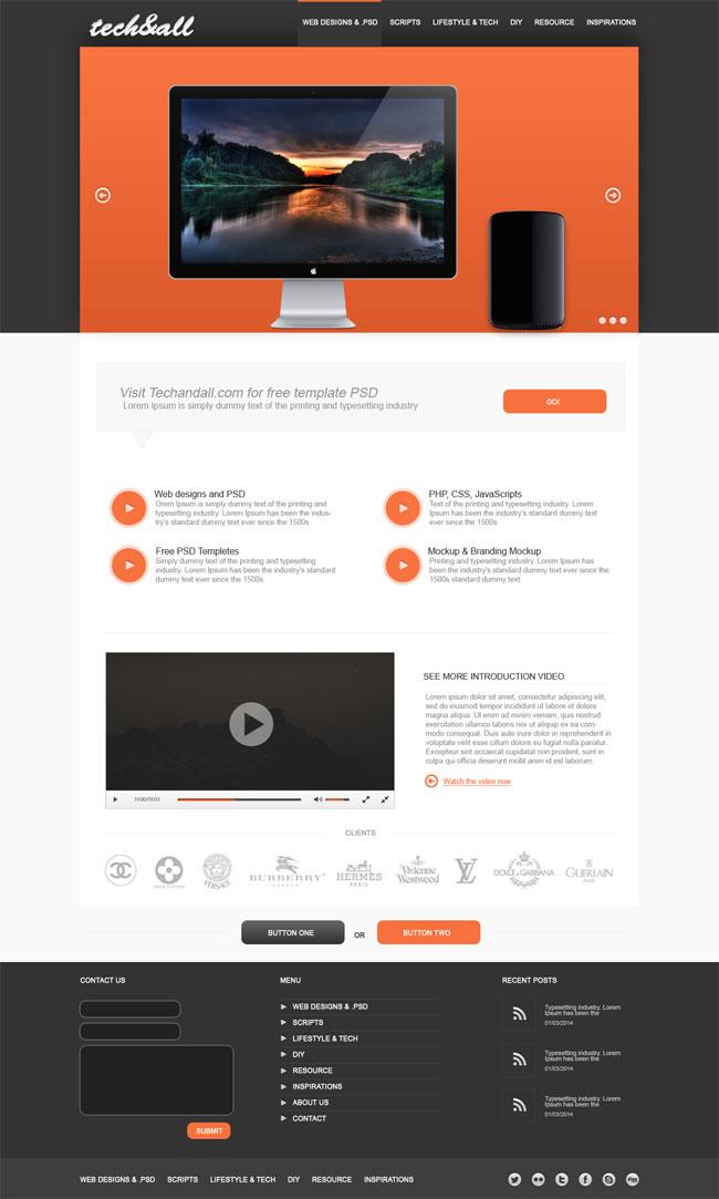 Diseño minimalista para Landing Page