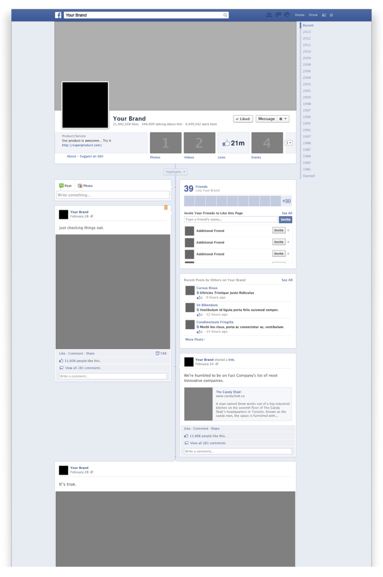 mockup psd facebook page