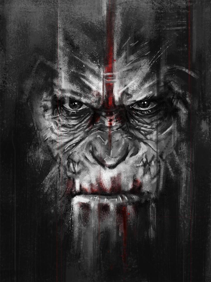 poster planeta de los simios caesars