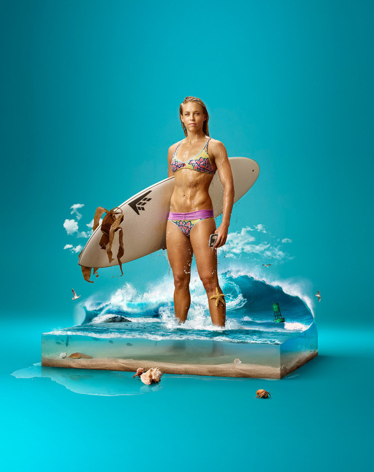 publicidad Galaxy S5 agua 3