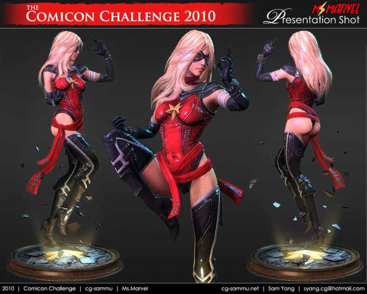 sam yang renders 3D ms marvel