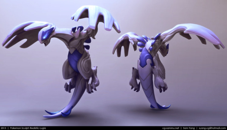 sam yang renders 3D pokemon lugia