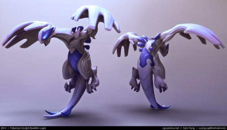 sam yang renders 3D pokemon lugia