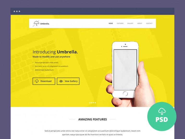 Umbrella - Plantilla para Landing Page de App