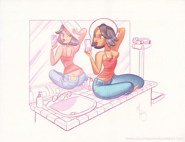 Bill Presing ilustraciones sexys 2
