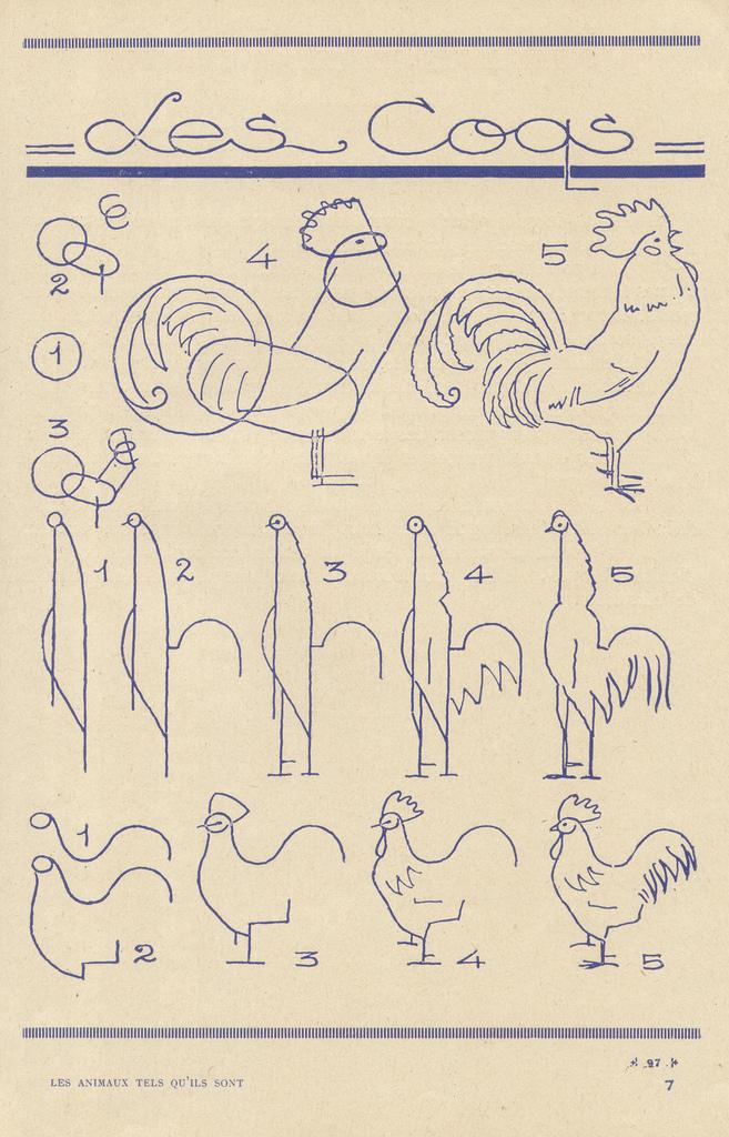 Como dibujar gallos