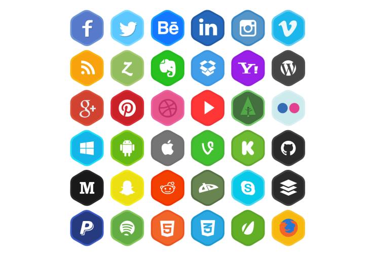 iconos redes sociales 2