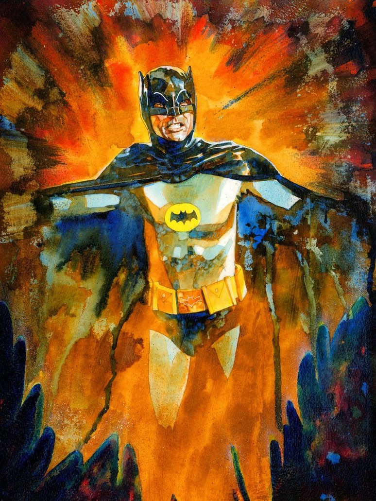 ilustraciones pop adam west batman