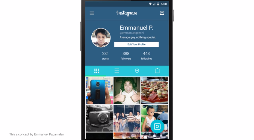 instagram material design