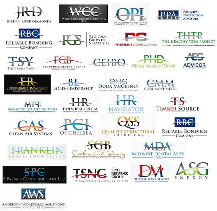 Logos que utilizan un medialuna atravesada al nombre de la marca