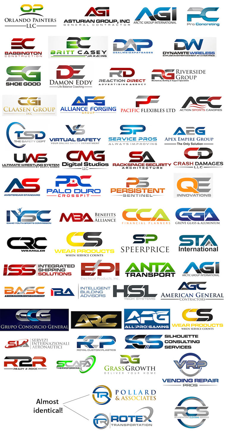 Logos que utilizan tipografías fusionadas
