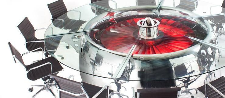 mesa de turbina de avion