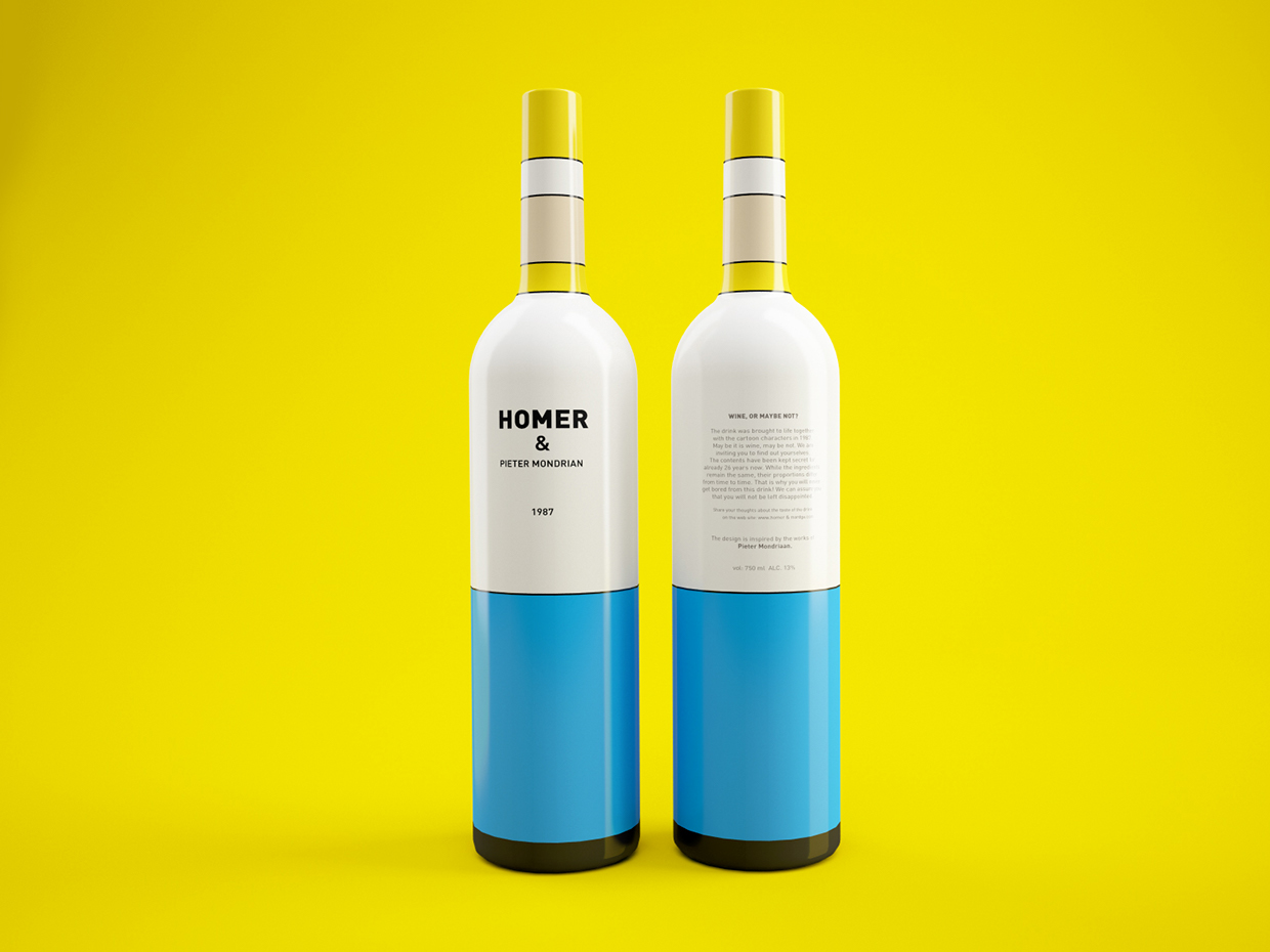 packaging vino los simpsons 2