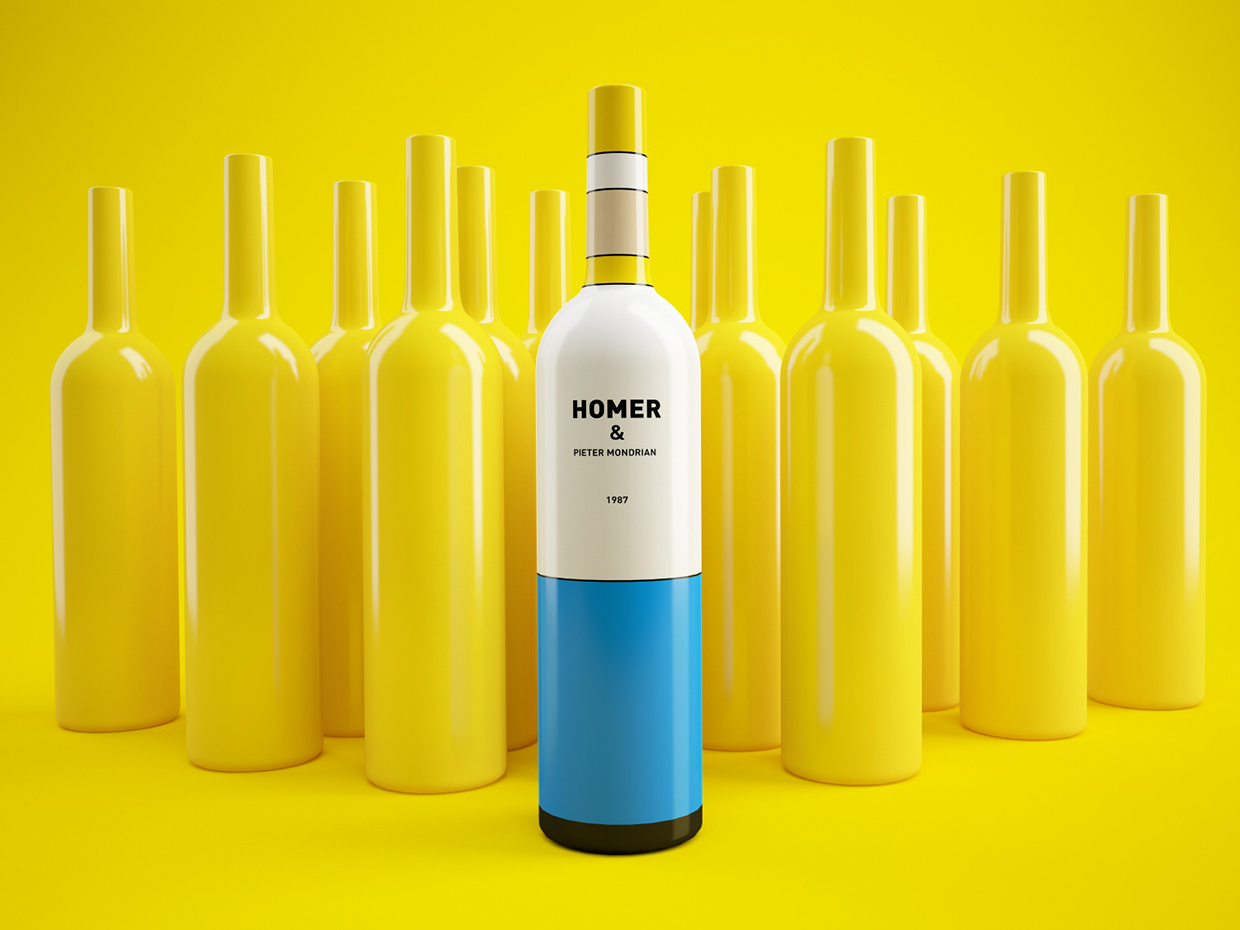 packaging vino los simpsons 4