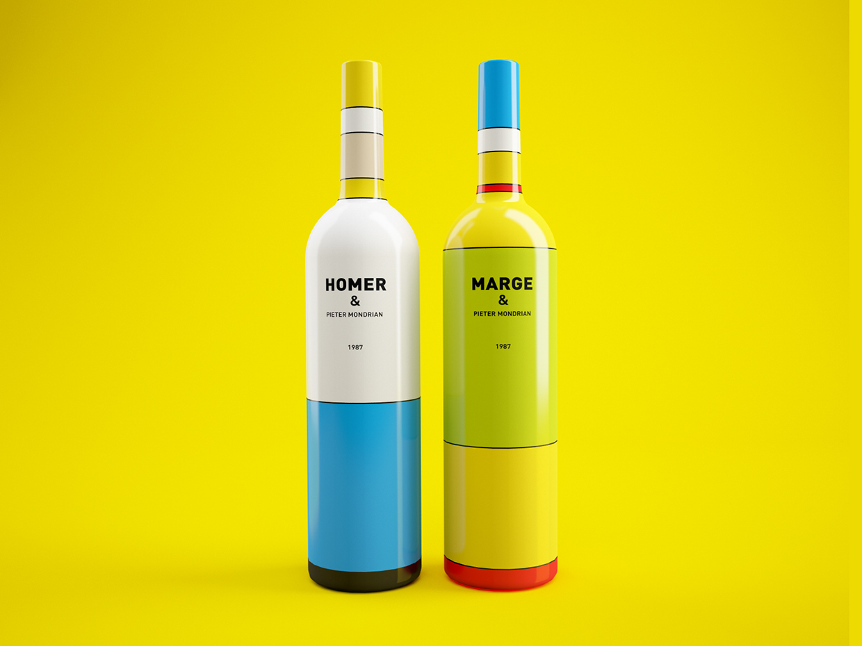 packaging vino los simpsons 5