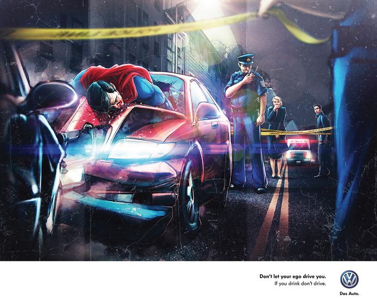 publicidad superheroes Volkswagen superman