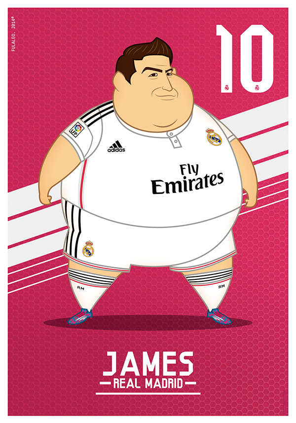 real madrid gordos james