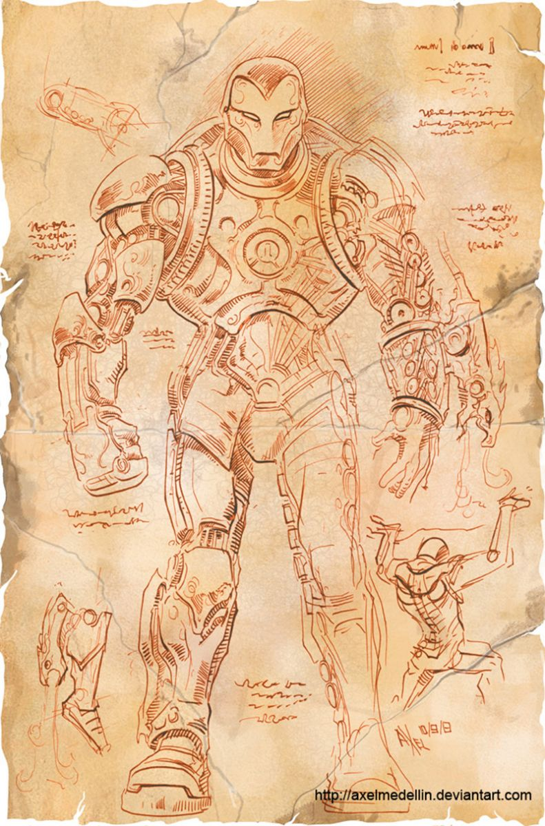 Iron-Man Da Vinci
