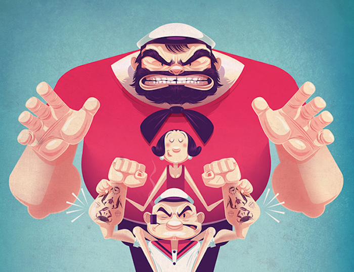 James Gilleard poster de popeye cover