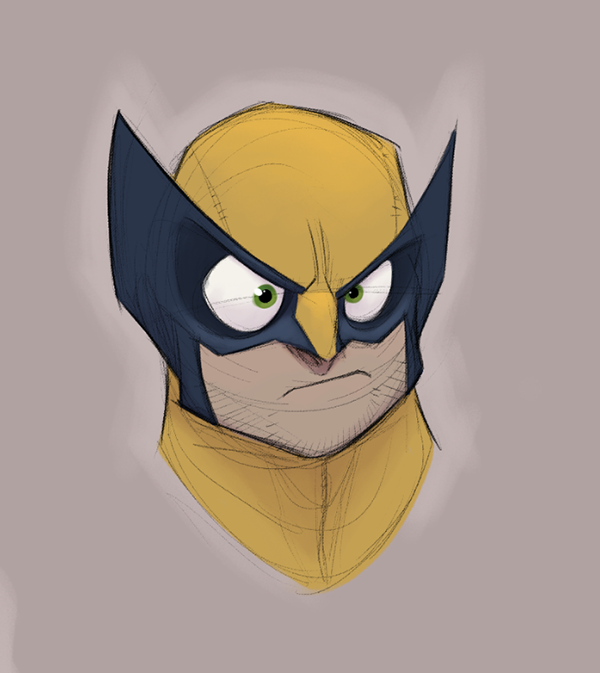 Retratos de superheroes wolverine