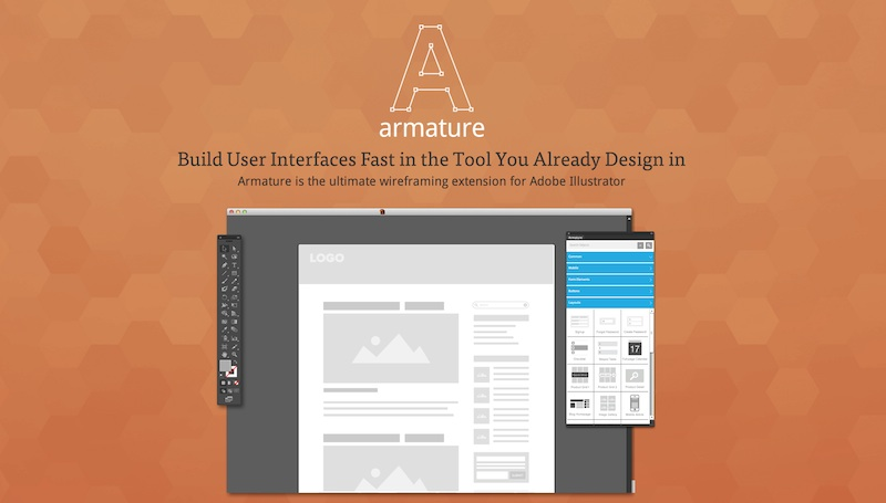 armature, plugin para diseñar interfaces