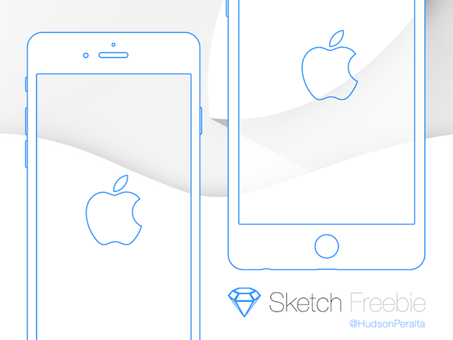 iPhone 6 & iPhone 6 Plus Wireframes - Sketch App - por Hudson Peralta