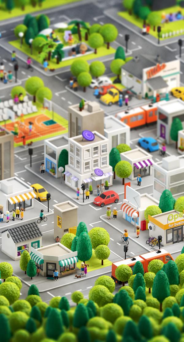 ciudad 3d imagen 8