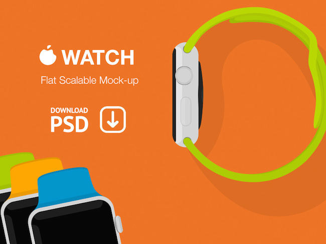 Apple Watch Flat - Photoshop - por Alexander Kutozov