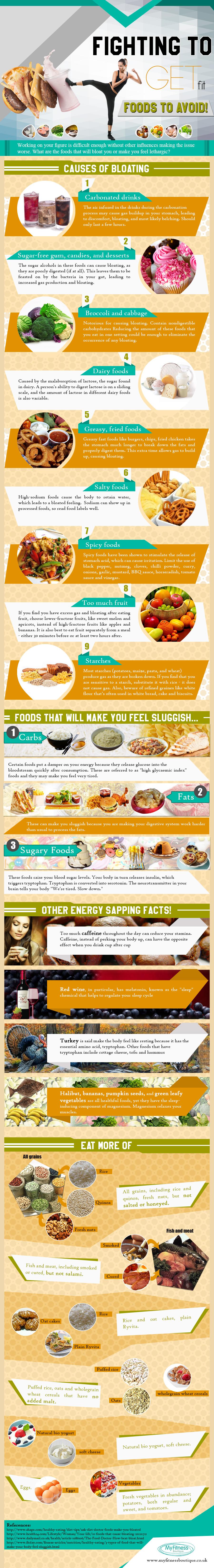 infografia comidas para evitar