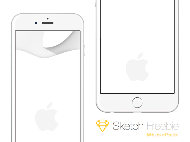 iPhone 6 & iPhone 6 Plus - Sketch App - por Hudson Peralta